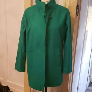 J crew mint green coat 6 excellent like new